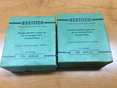 """NOS Vintage Bostitch  STH 5019-3/8"""" Staples (2) Boxes"""