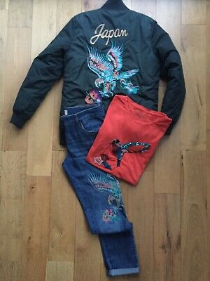 Next Girls Outfit, Bomber Jacket, Top & Jeans. Age 12-13 Yrs.