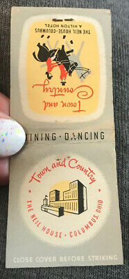 Matchbook Cover Town and Country The Neil House Columbus Ohio
