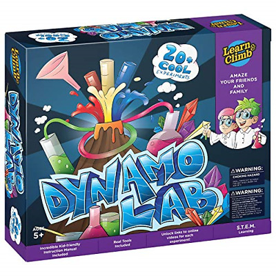 Learn & Climb Science Kit for Kids - 21 Experiments Science Set, Hours of Fun.
