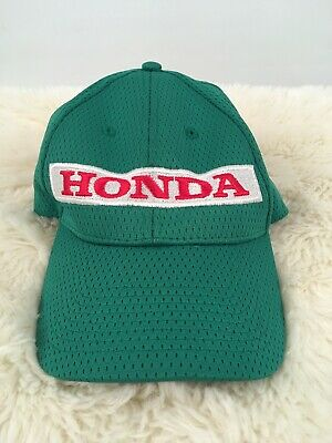 Green Honda Hat Jersey / Mesh Texture Embroidered Logo