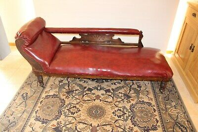 Antique chaise lounge excellent condition with lovely carving.