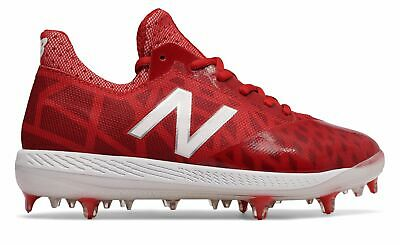 New Balance Kid's Low-Cut Junior COMPv1 Baseball Cleat Big Kids Unisex Shoes Red
