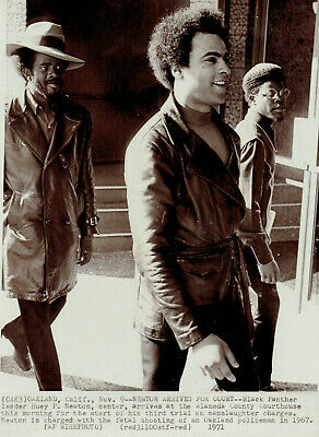 1971 Vintage Photo Black Panther Party Leader Huey P. Newton on trial for murder