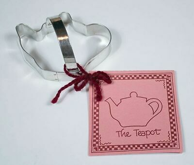 The Teapot Tin Plated Steel Cookie Cutter & Recipe Card Tea Pot Brand New