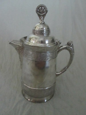 1920 Acme Silver Plate Co. Boston Quadruple Hot & Cold Ornate Pitcher