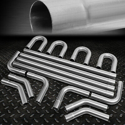 """4/"""" OD// OD 45 Degree Exhaust Elbow Pipe with 9/"""" Arms Aluminized"""