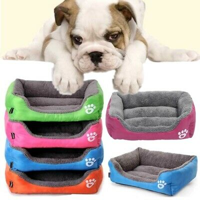 Pet Cat Dog Bed Warm Cushion House Washable Kennel Mat for Small Large Dogs