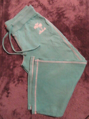 Girls/Ladies Green Crop Trousers Size 12 See Details
