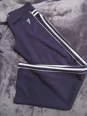 Ladies/Girls Navy Blue Running/Gym Tracksuit Trousers For Size See Details