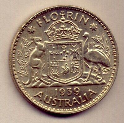 1939 Florin: A Very Nice  Silver   Coin :  Great Condition  No  Reserve