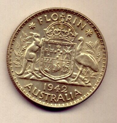 1942 Florin: A Beautiful  Silver   Coin :  Great Condition  No  Reserve