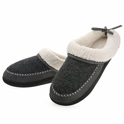 Women's Slippers Wool-Like Lining Slip On House Shoes Memory Foam with Bow