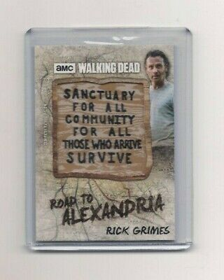 Topps Walking Dead Road To Alexandria Rick Sanctuary Sign Patch Card