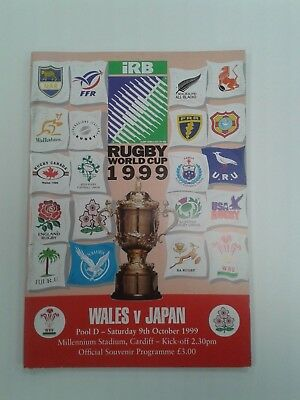 Wales v Japan 1999 World Cup Pool D Match Day Programme.