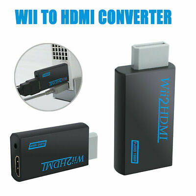 Adapter Cable Wii to HDMI Adapter Converter Stick 1080p Audio HD Full T6N2