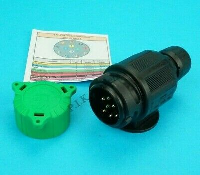8 Pin Towing Plug with Alignment Cap for using with a 13 Pin Socket Trailers
