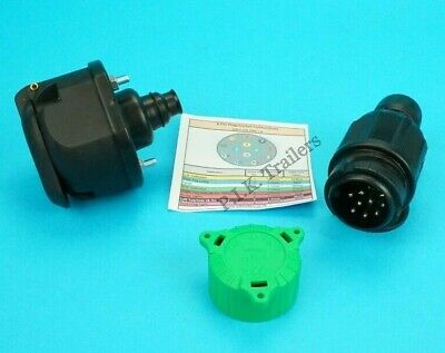 8 Pin Plug with Alignment Cap & 13 Pin Towing Socket & Gasket for Trailer  #1288