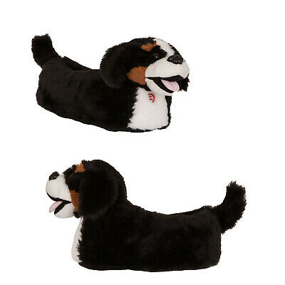Loungeable Womens Barking Dog 3D Animal Novelty Slippers With Sound Effects