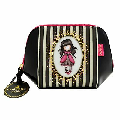 Gorjuss Classic Stripe Structured Accessory Case - Ladybird