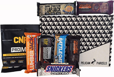 Protein Selection Fitness Gift Box - Grenade Reload Flapjack, Gold Standard Whey