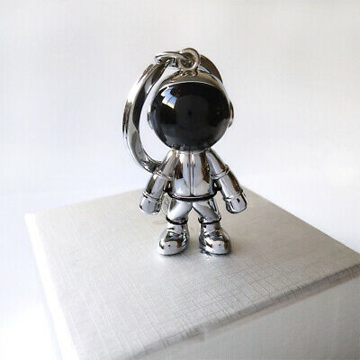 3D Astronaut Keychain Space Robot Spaceman Keychain Alloy #white
