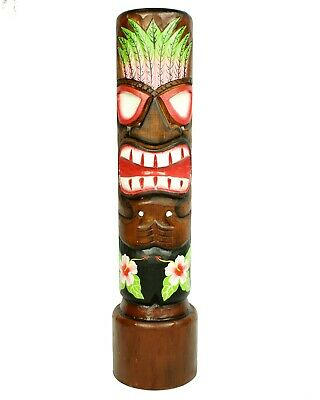 Very Large Tiki Wooden Totem Pole Wooden 80cm Hand Carved