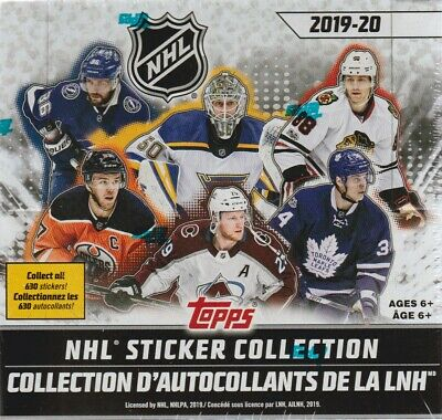 (2019 Topps NHL Hockey Sticker Collection 50pk Display Box = 250 Stickers