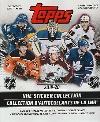 (12) 2019 Topps NHL Hockey Sticker Collection 50pg. ALBUM LOT =120 Free Stickers