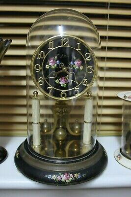 Large Floral Dial KERN Anniversary/400 day/torsion/ dome/ mantle/ Clock