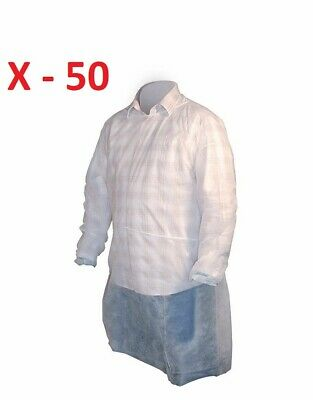 50  High Five AG124 XL White Isolation Spunbond Polypropylene Disposable Gown