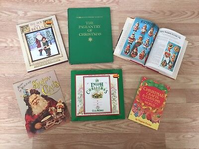 Christmas Book Lot ~ Around The World, Crafts & Customs, Traditions, Santa, Bell