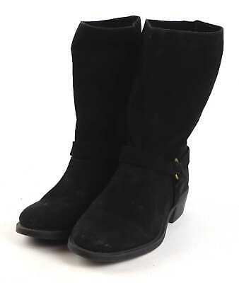 Zara Women 100/% Leather Flat Ankle Boots With V-Vamp Black Size 7.5 EU 38 NWT
