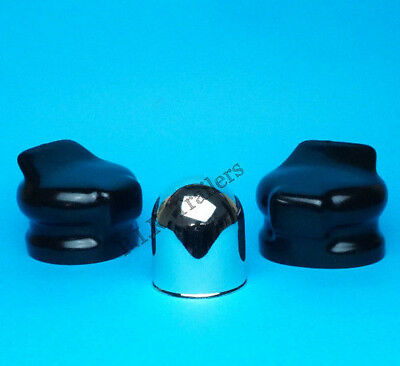 Chrome Towball Cover & 2 x Socket Covers for 7 Pin Towing Caravan