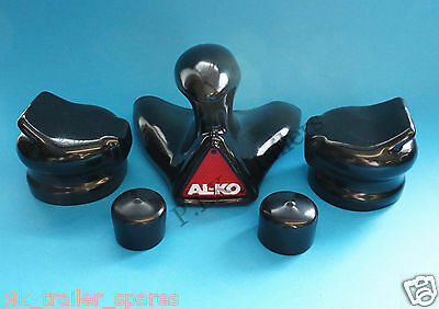 GENUINE ALKO Extended Neck Towball Cover with 2 x 7 Pin Plug & Socket Covers