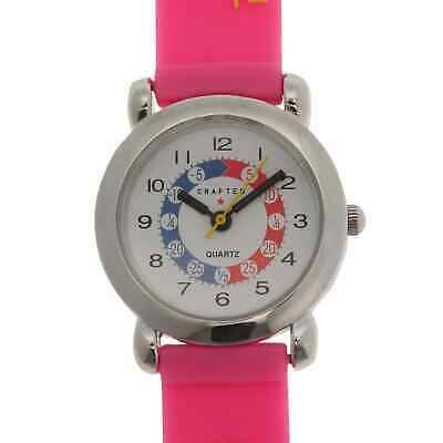 Crafted Essentials Kids Girls Alphabet Watch Colourful Analogue Buckle Fastening