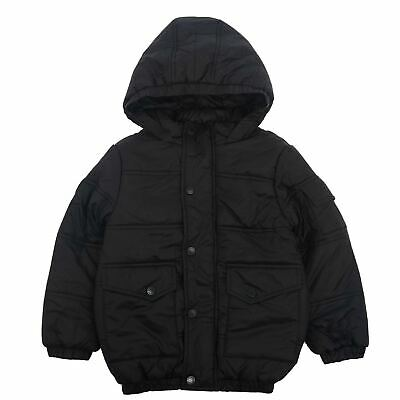 Firetrap Kids Boys Luxe Bubble Puffer Jacket Coat Top Long Sleeve Hooded Zip