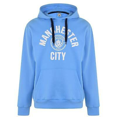 Source Lab Mens Manchester City FC OTH Hoodie Performance Hoody Hooded Top Long