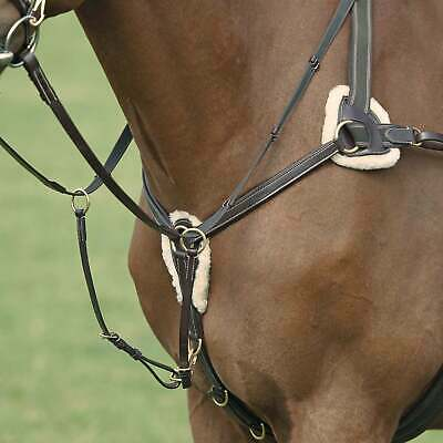 STOCK CLEARANCE RRP £82 Shires 5 Point Salisbury Leather Event//Hunt Breastplate