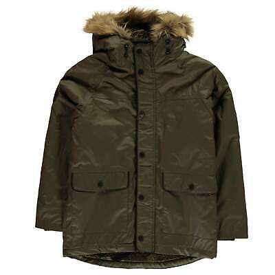Firetrap Kids Boys Wax Parka Junior Jacket Coat Top