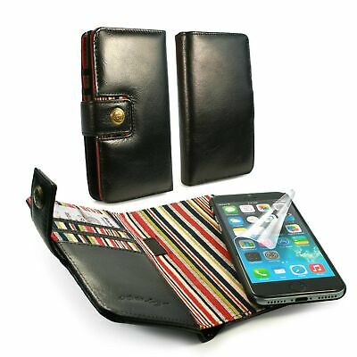 Alston Craig Genuine Leather Magnetic Shell Folio Wallet Case for iPhone 7/8-Bla