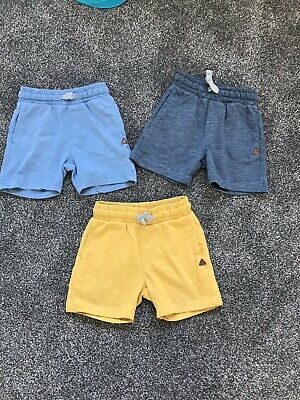X3 Baby Boys Mothercare Shorts 12-18 Months