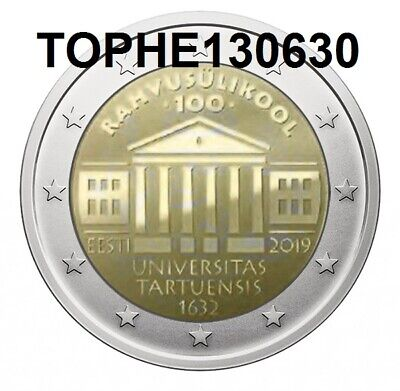 "Estonie Commémorative 2019 ""Universite De Tartu"" 2 Euro Neuve-Unc"