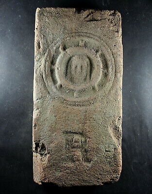 Brick, Face of Jesus Christ, wheel, coat of arms, Baroque, 16th-17th century
