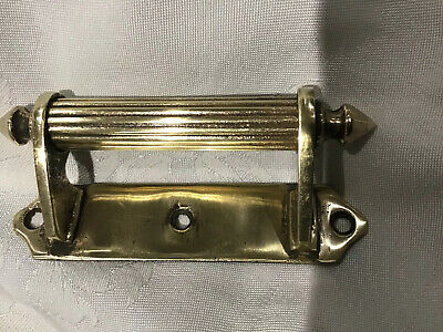 Reclaimed, Antique  Original Period Brass Sash Window Lifter / Door Handle,