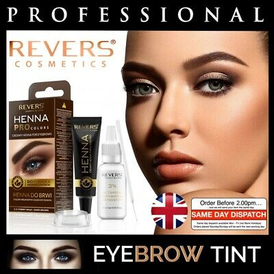 Professional EYEBROW HENNA Brow Eyelash TINT Dye Cream Black Brown Graphite 15ml