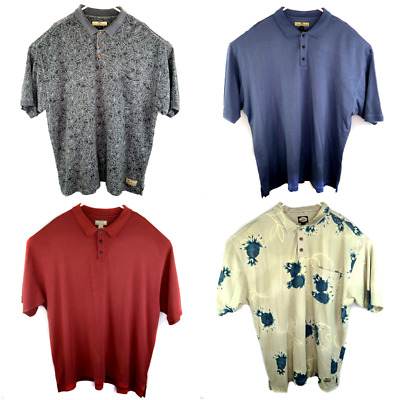 Lot 4 Tommy Bahama Mens Polo Shirts All Size 2XL XXL Floral Solids Silk