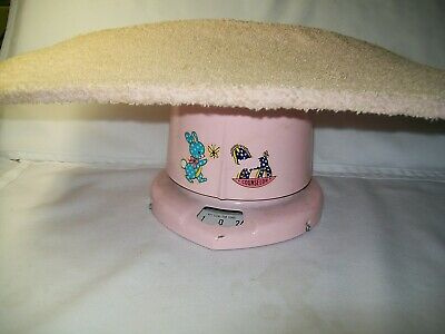 Antique  Vintage Baby Scale Pink Counselor 1960'S Metal
