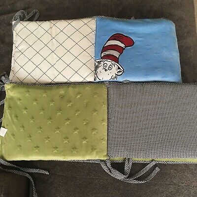 EUC Cat In The Hat Crib Bumper Trend Lab BUMPER ONLY