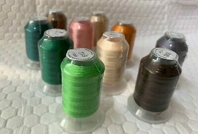 Embroidex 10 New Spools Polyester Embroidery Machine Thread